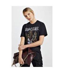 t-shirt tie dye rocker preto preto - p