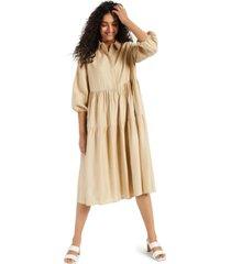 alfani tiered midi dress, created for macy's