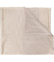missoni metallized knitted scarf - gold
