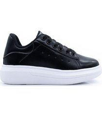 zapatilla negra kandil basic sneakers plataforma