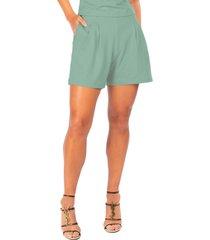 dai moda high waist pleated shorts, size medium in granite at nordstrom