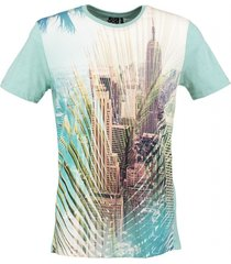 kultivate zacht slim fit t-shirt mint melange
