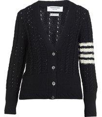 thom browne 4 bar knitted cardigan