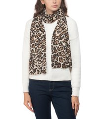 charter club cashmere leopard-print muffler scarf, created for macy's