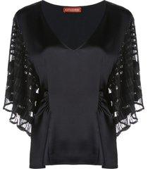 altuzarra brys batwing blouse - black