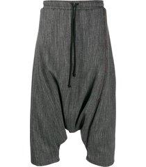 alchemy drop-crotch shorts - grey