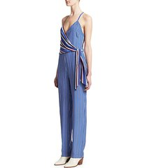 felix striped silk jumpsuit