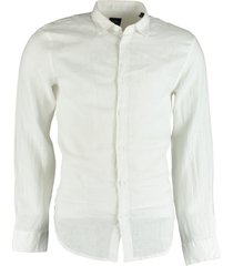armani exchange overhemd linnen wit 3kzc50.zncfz/1100
