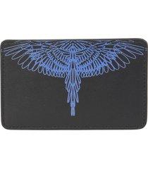 marcelo burlon pictorial wings diagonal card holder