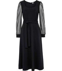 abito con maniche in chiffon (nero) - bodyflirt