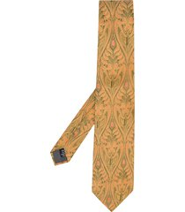 gianfranco ferré pre-owned 1990s floral jacquard tie - gold