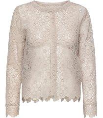 3177 - valentine blouse lange mouwen wit sand