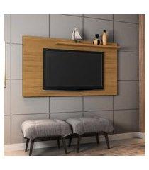 painel para tv até 50 pol móveis bechara chanel cinamomo