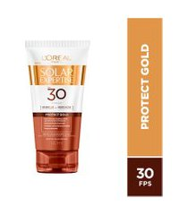 protetor solar facial l'oréal expertise protect gold fps30 - 120ml único