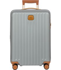 men's bric's capri 2.0 21-inch rolling carry-on - grey
