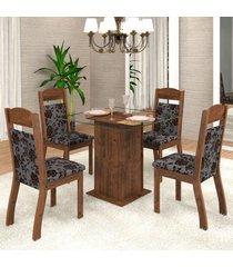 mesa de jantar 4 lugares mirela zara dover/cobre - viero móveis