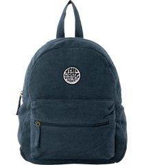rip curl mini surfers original canvas backpack - blue