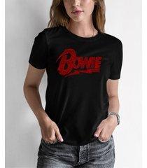 women's david bowie logo word art t-shirt