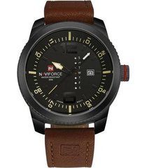 man brand leather sratp watches relojes deportivos de cuarzo relojes impermeables - marrón negro