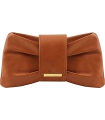 tuscany leather tl141801 priscilla - pochette in pelle cognac