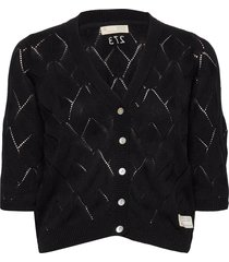 curious short sleeve cardigan gebreide trui cardigan zwart odd molly