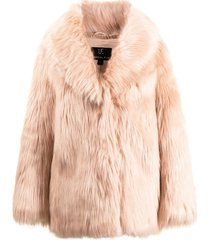 unreal fur premium rose faux-fur jacket - pink