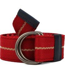 cinturón rojo-azul-beige colore