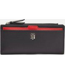 tommy hilfiger women's slim wallet corporate mix -