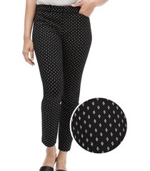pantalon skinny ankle blanco/negro negro gap