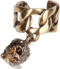 alexander mcqueen gold-tone steel ear cuff