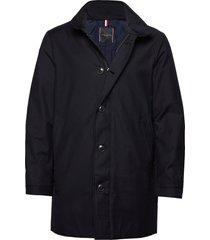 tech stand up collar coat tunn jacka blå tommy hilfiger tailored