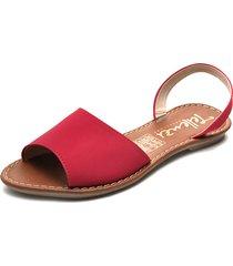 sandalia dama rojo tellenzi 1970