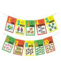 jogo educativo - varal de numerais e quantidades fauna brasileira - carlu