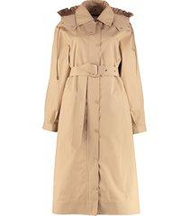 moncler genius silene hooded trench coat