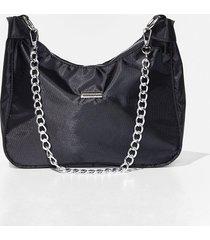 womens want chain-ge your mind shoulder bag - black