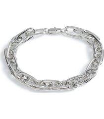 mens metallic silver chain bracelet*