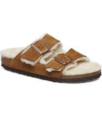arizona shearling slippers tofflor beige birkenstock