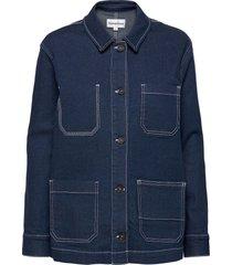 lincoln jacket raw indigo jeansjack denimjack blauw tomorrow