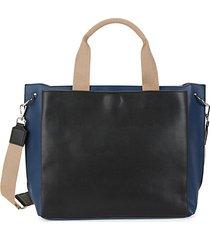 large maxine faux leather satchel