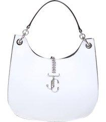 jimmy choo varenne m hobo bag in milk color leather