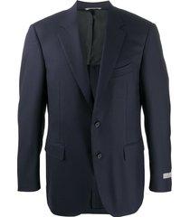 canali single breasted formal blazer - blue