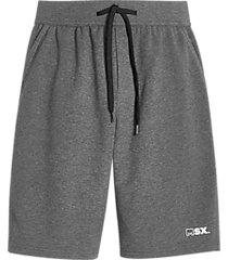 msx by michael strahan modern fit fleece knit shorts gray heather