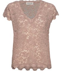 t-shirt ss t-shirts & tops short-sleeved roze rosemunde