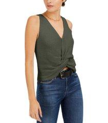 bar iii twist-front sleeveless sweater, created for macy's