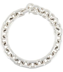 bottega veneta chunky chain necklace - silver