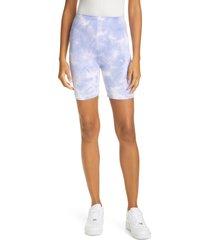 women's cotton citizen milan tie dye bike shorts, size x-small - purple