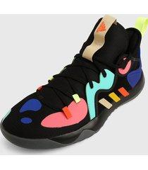 tenis basketball negro-multicolor adidas performance harden stepback 2
