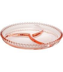 petisqueira cristal pearl rosa 24cm