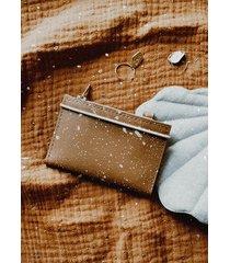 portfel mikro splash caramel
