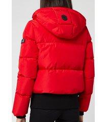 mackage women's aubrie short classic down coat - red - m